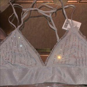 Urban Outfitters NWT diamond bralette grey